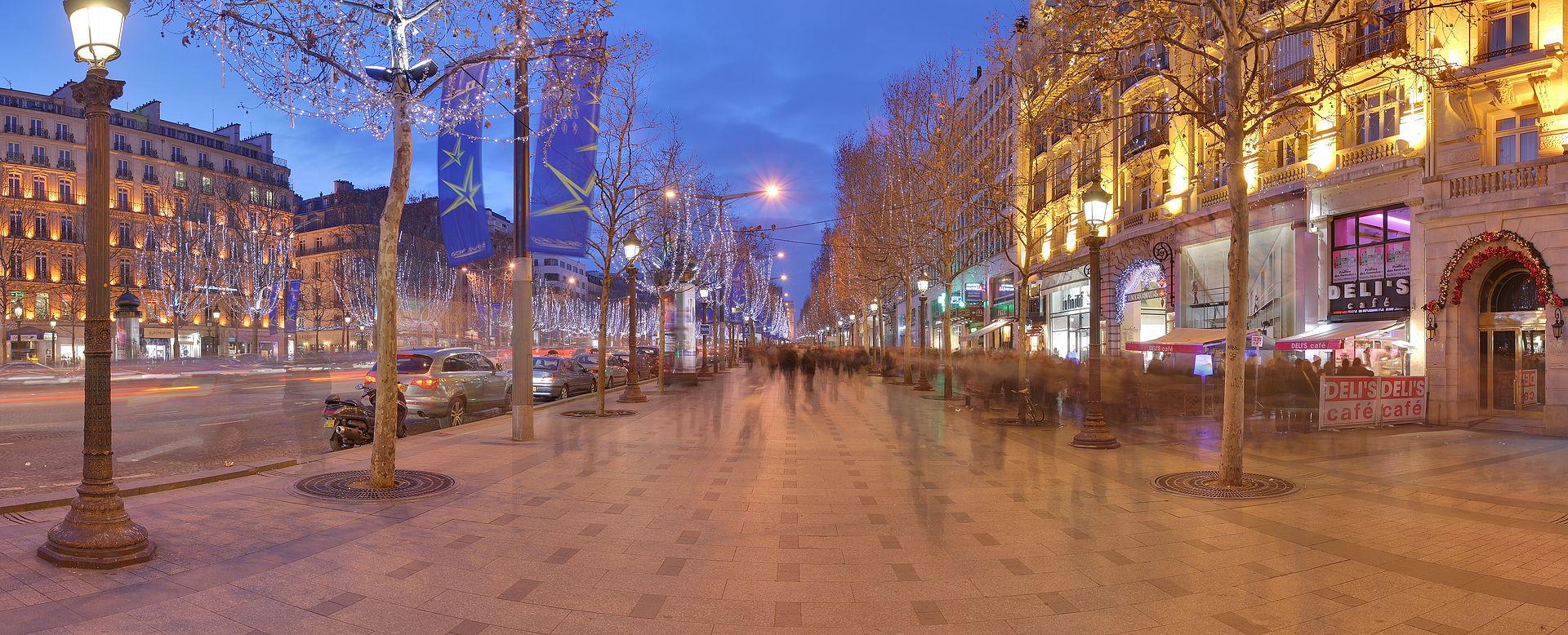 ถนนฌ็องเซลิเซ่ -ร้านค้าหรูหรา