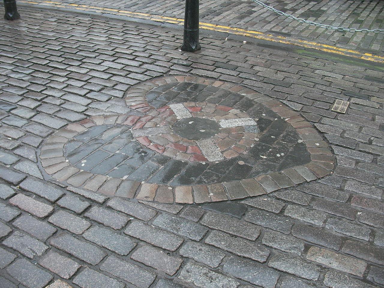 ถนนรอยัลไมล์-สัญลักษณ์บอกจุดที่ตั้ง