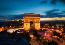 ประตูชัยฝรั่งเศส-ยามค่ำคืน