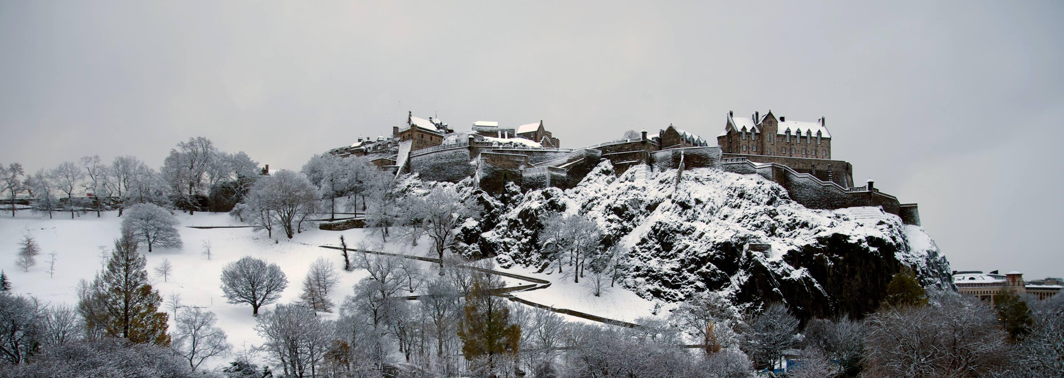ปราสาทเอดินบะระ-ฤดูหนาว