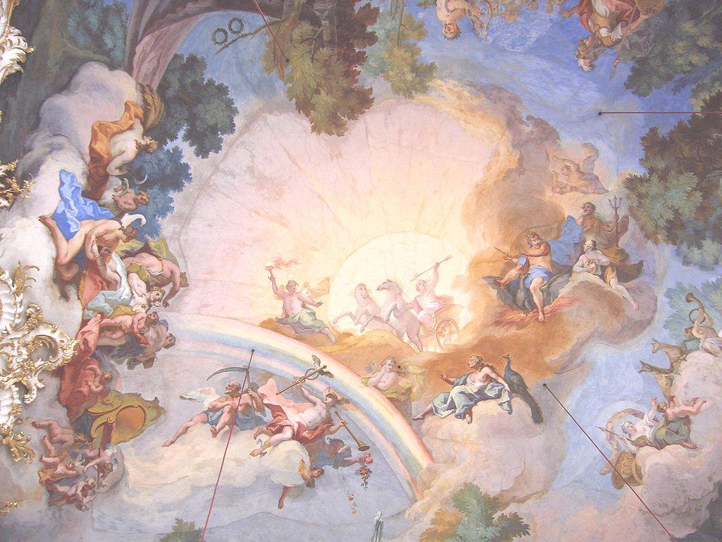 พระราชวังนิมเฟนเบิร์ก-ภาพเขียนบนเพดาน