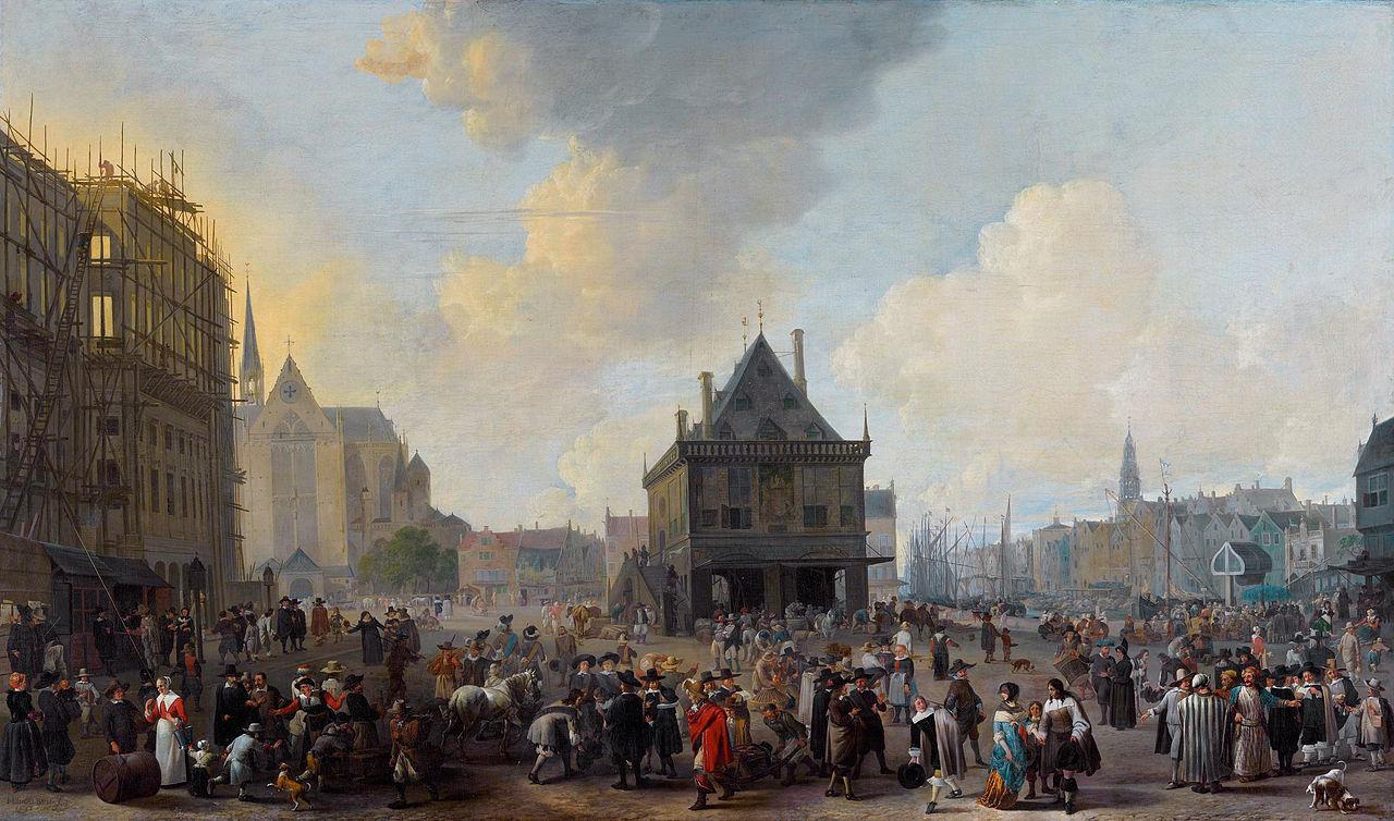 พระราชวังหลวง อัมสเตอร์ดัม -ภาพเขียน