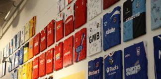 พิพิธภัณฑ์ฟุตบอลแห่งชาติ-เสื้อเเข่งทีมต่างๆ