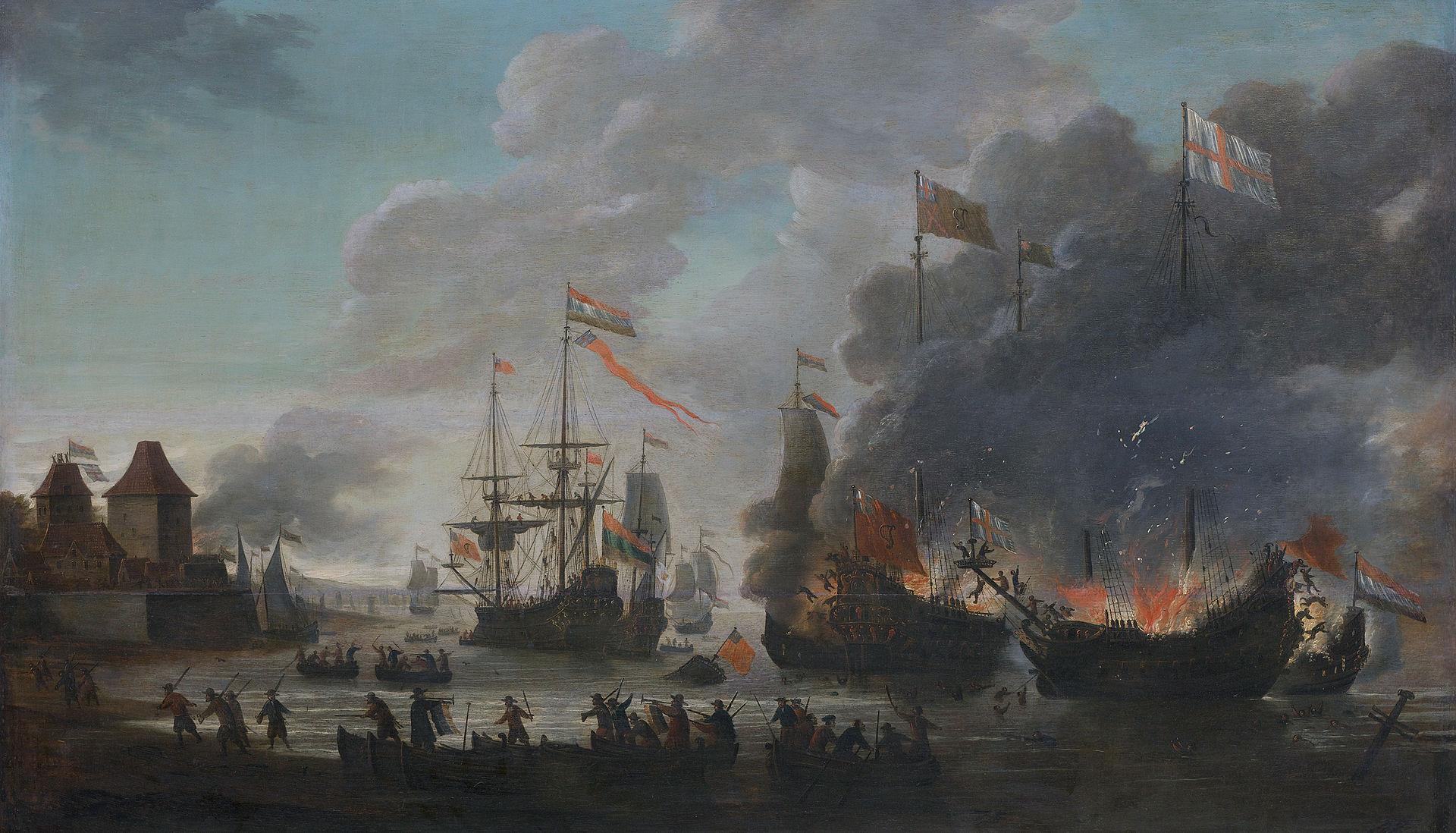 พิพิธภัณฑ์เร็กซ์ -ภาพเหตุการณืดัตชืเปาเรืออังกฤษ