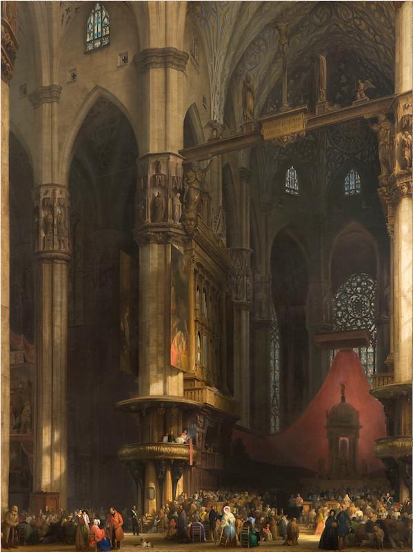 มหาวิหารเเห่งมิลาน -ภาพเขียน