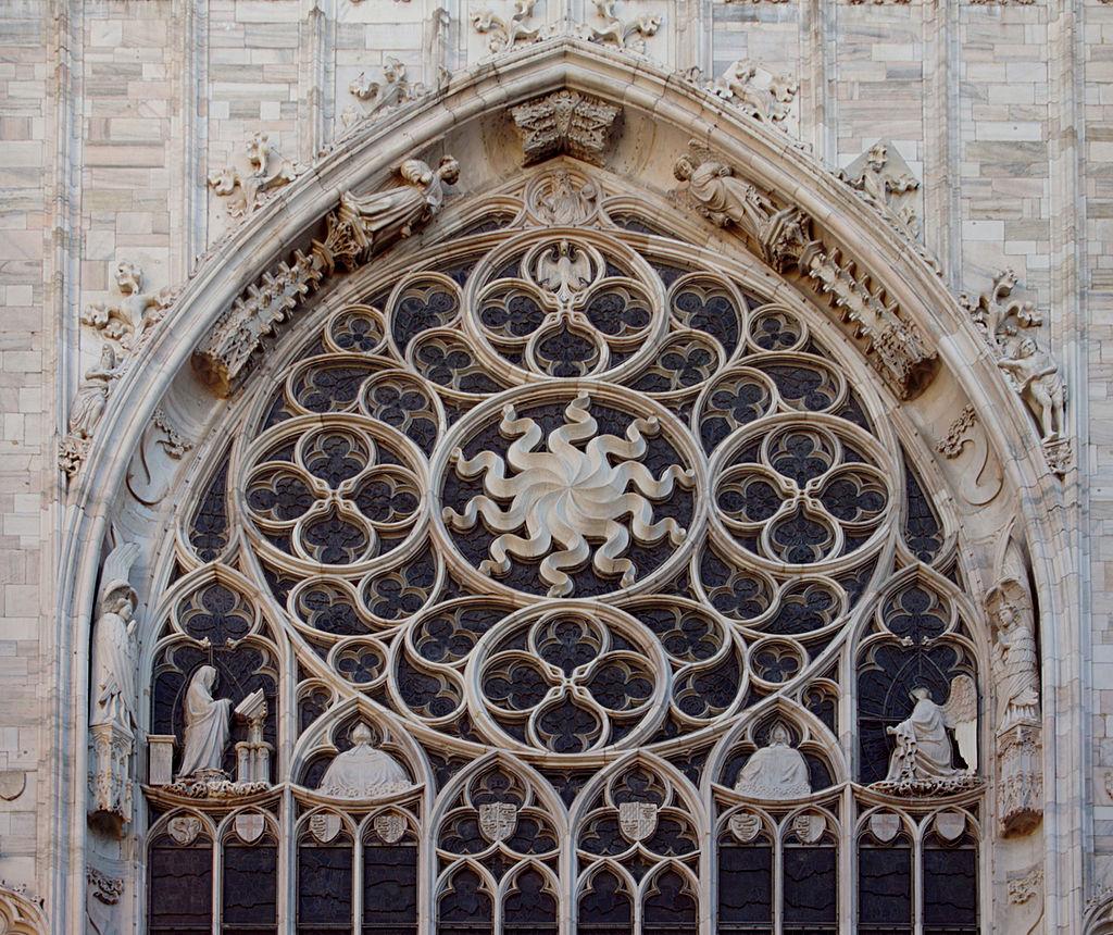 มหาวิหารเเห่งมิลาน -ลวดลายกระจก