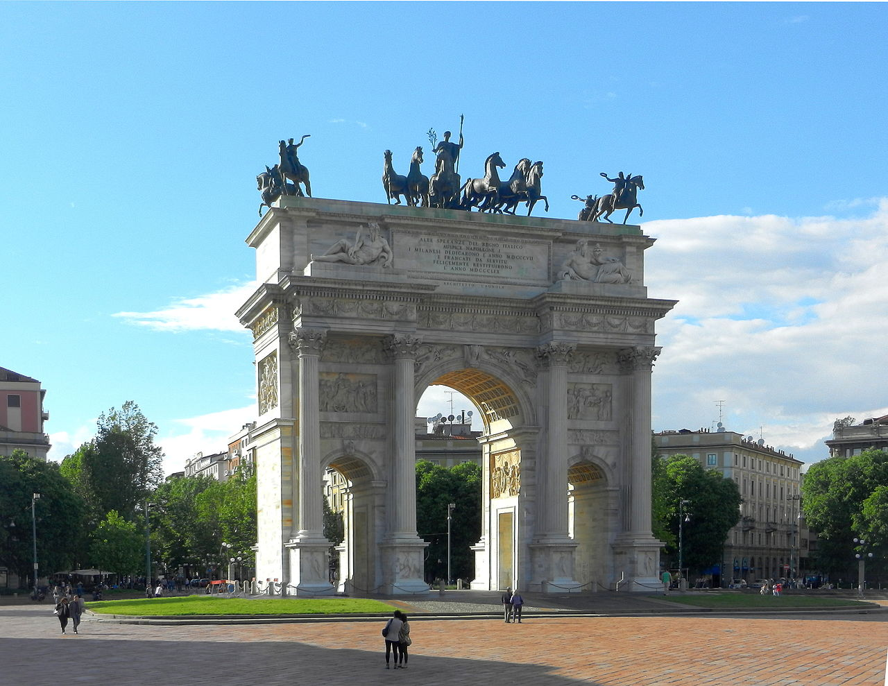 มิลาน-ประตูชัยเเบบฝรั่งเศส