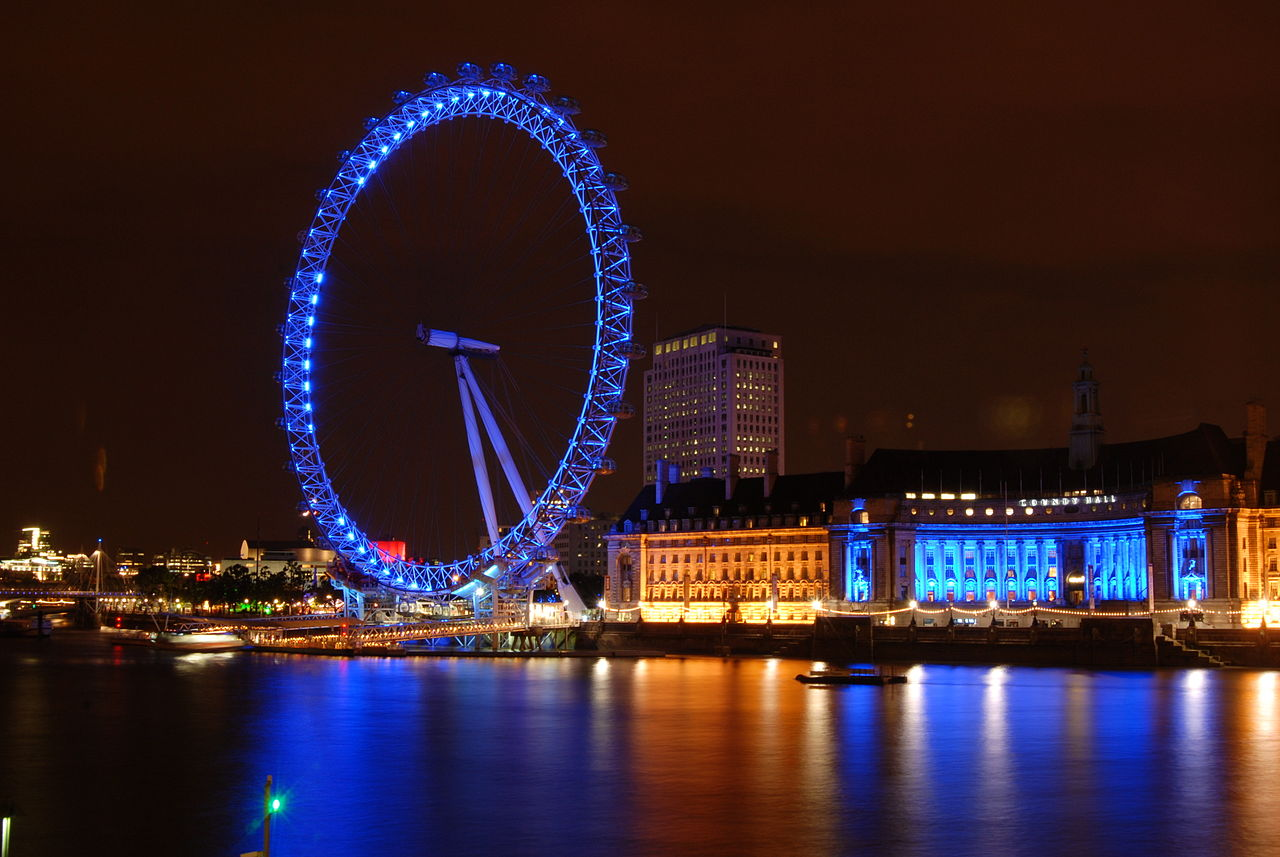 ลอนดอนอาย-งดงามริมเเม่น้ำเทมส์