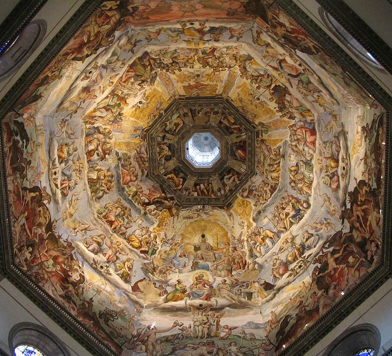 วิหารแห่งซานตามาเรียเดลฟิโอเร-ภาพเขียนตรงโดม