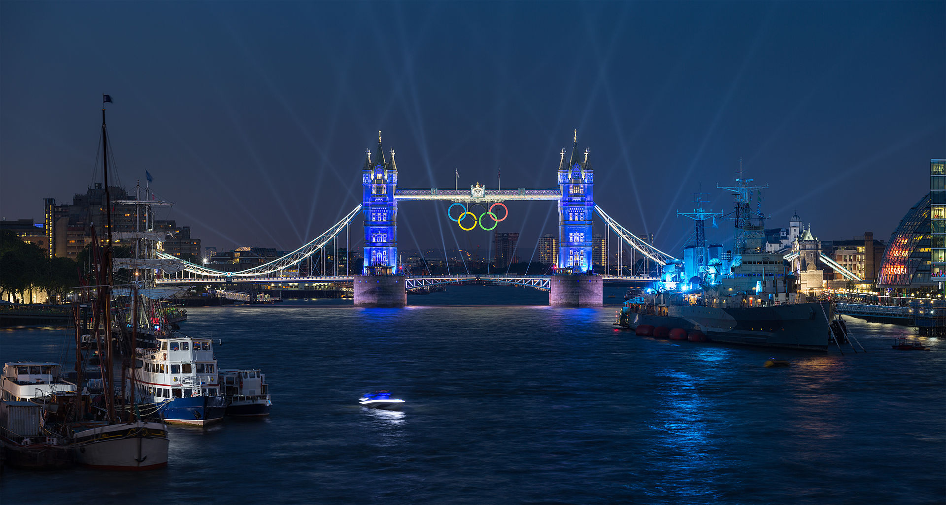 สะพานทาวเวอร์บริดจ์-ตอนจัดโอลิมปิก