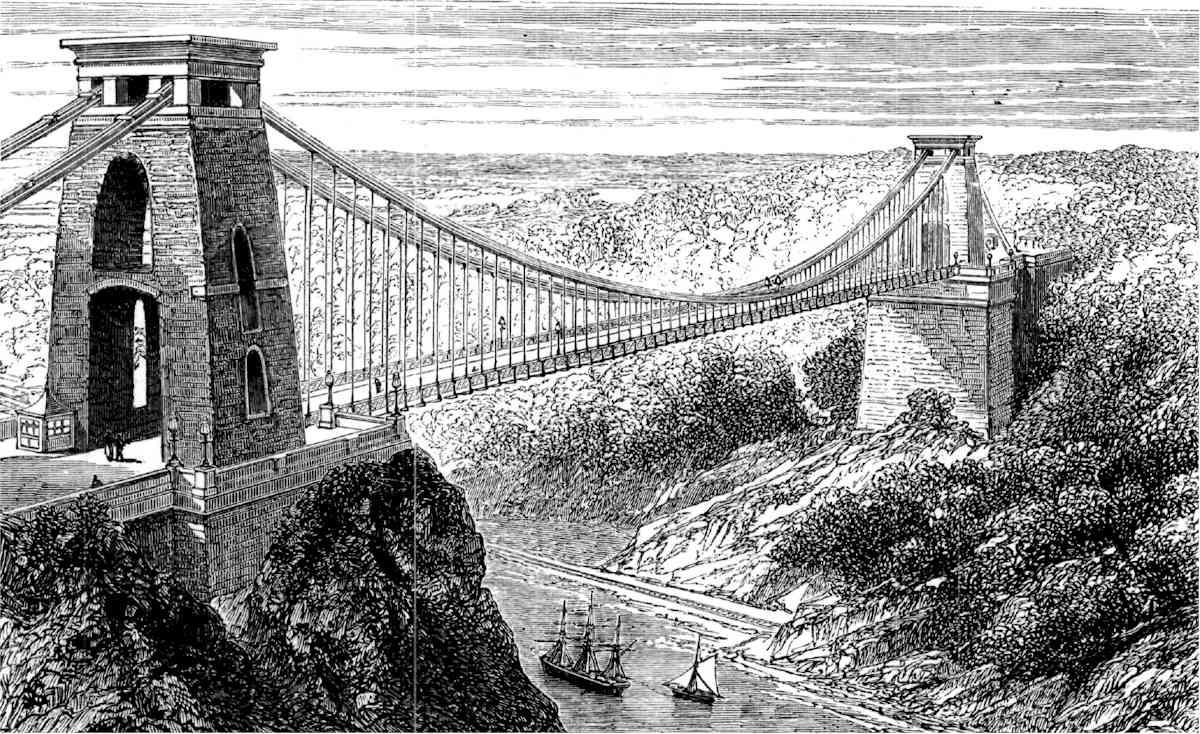 สะพานแขวนคลิฟตัน-ภาพร่าง