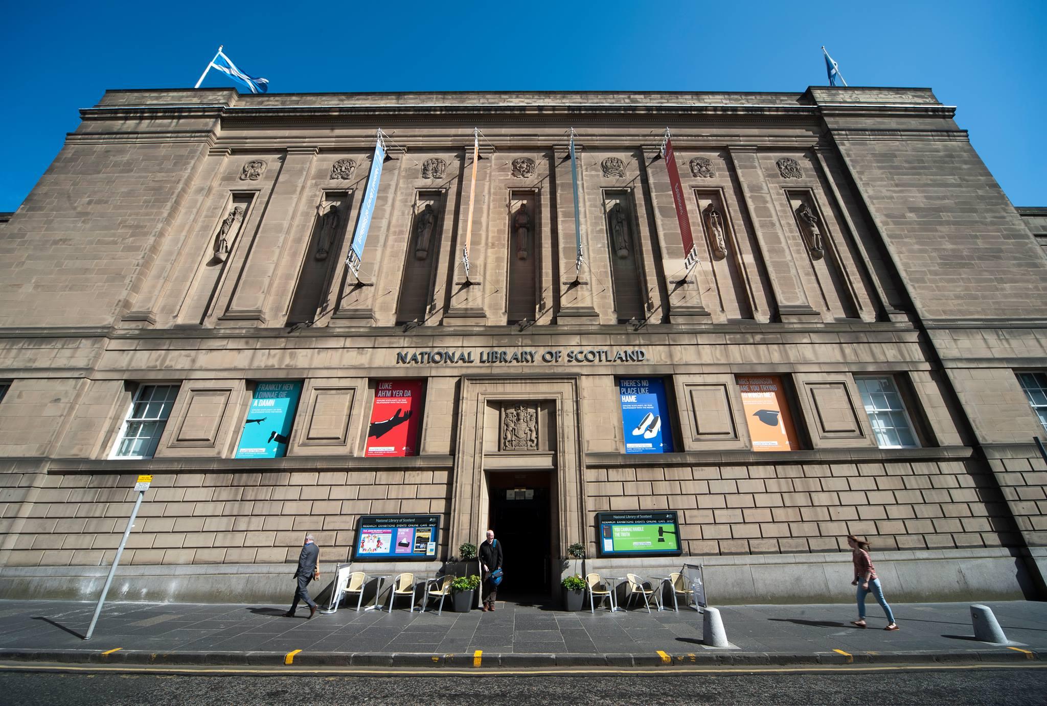 หอสมุดแห่งชาติสก็อตแลนด์-ด้านหน้าอาคาร