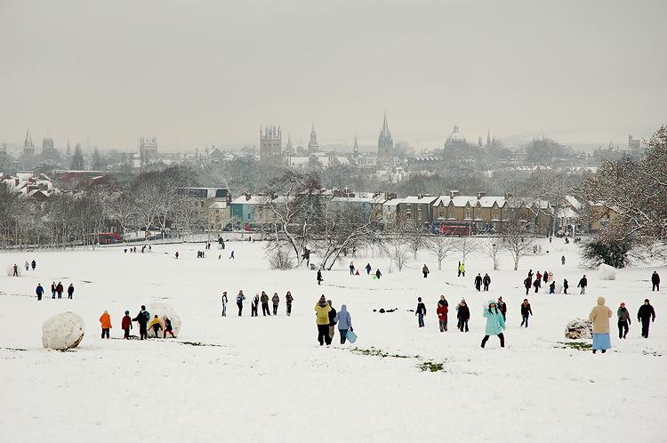 ออกซ์ฟอร์ด -บรรยากาศฤดูหนาว