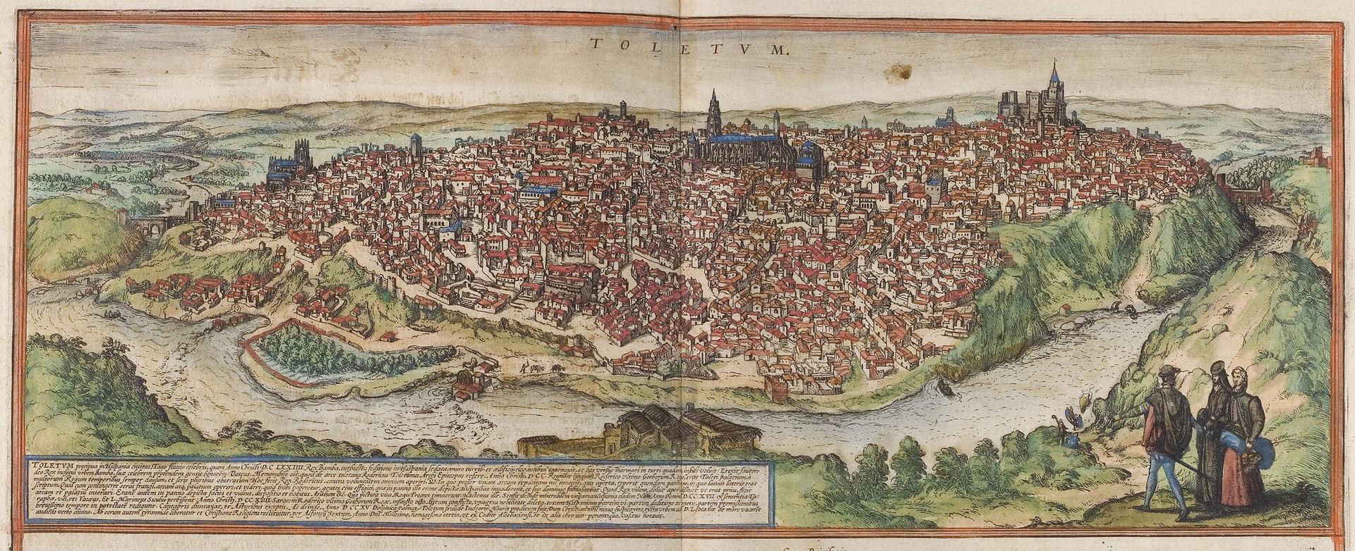 เมืองโทเลโด -ภาพเมืองเก่าสมัยคริตศวรรษที่ 16