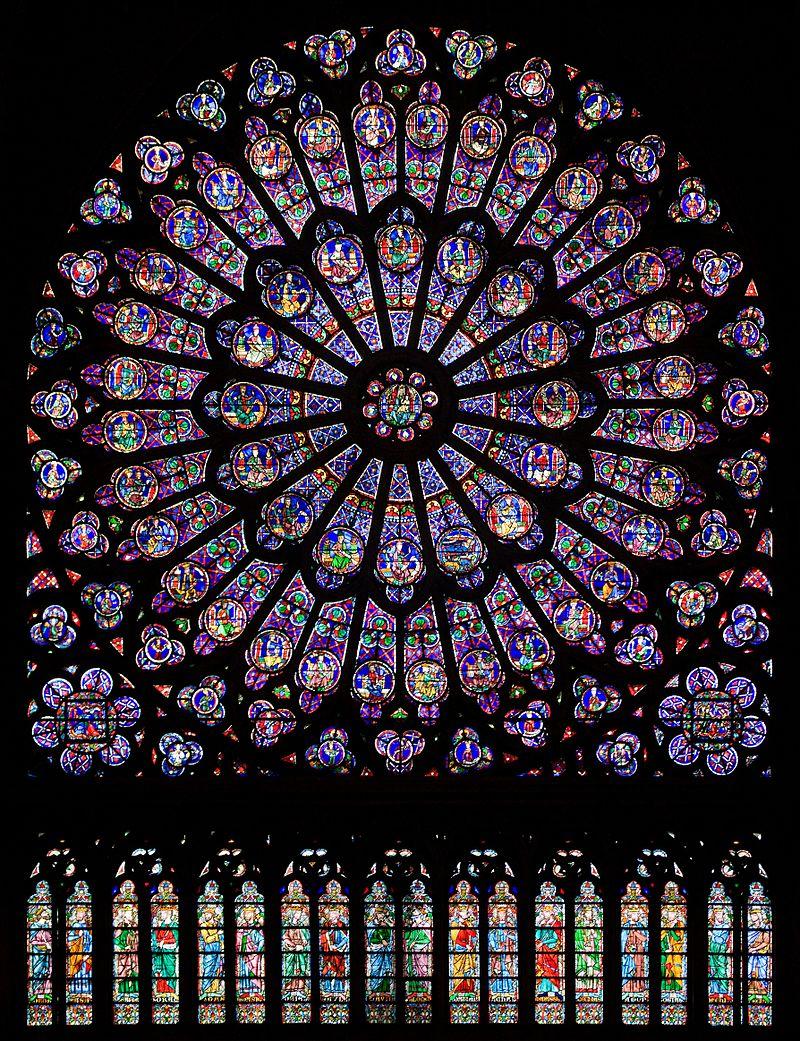โบสถ์นอทเทอร์ดัม -กระจกสี