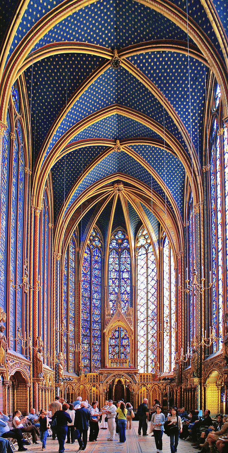 โบสถ์แซงต์ ชาแปลล์-ภายในโอ่อ่าสวยงาม