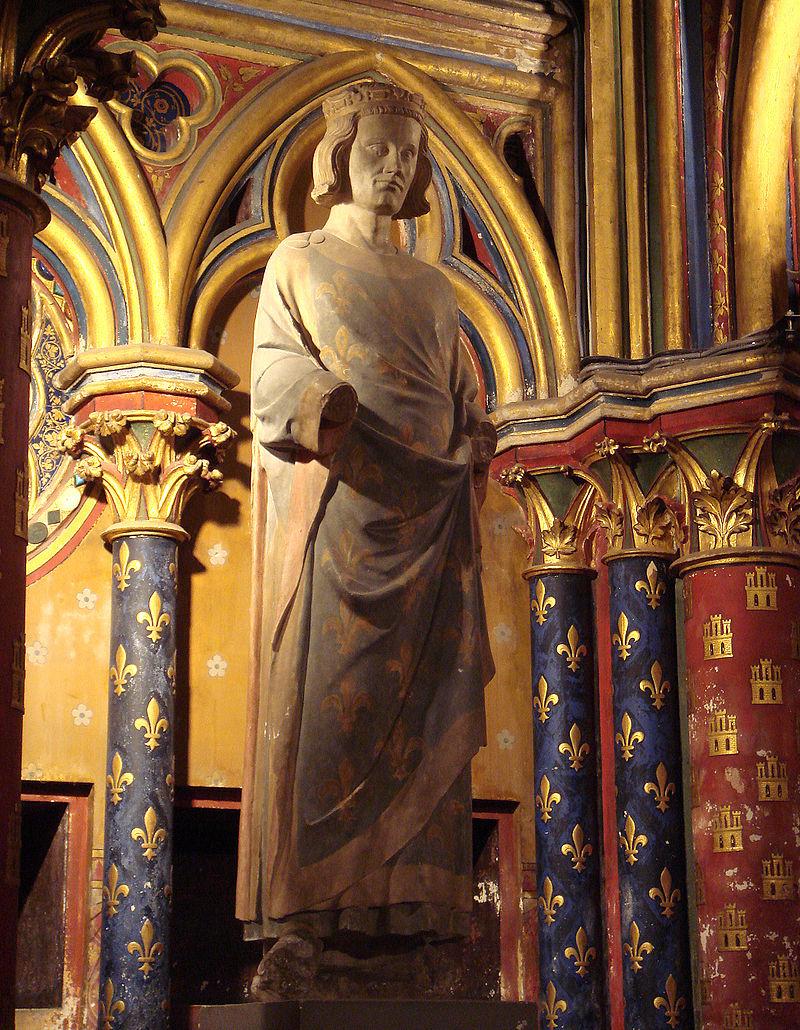 โบสถ์แซงต์ ชาแปลล์-รูปปั้นพระเจ้าหลุยส์ที่ 7