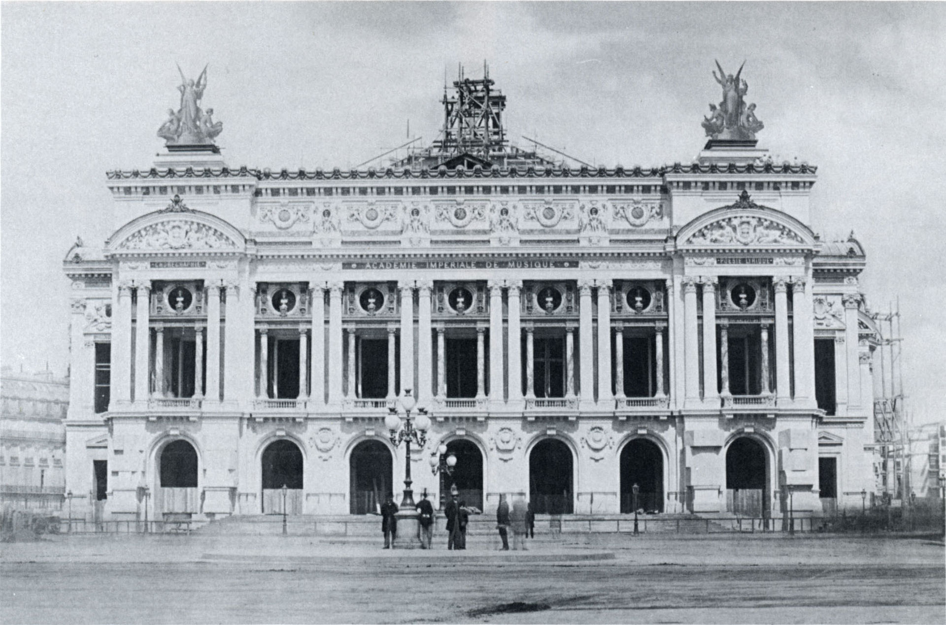 โรงละครปาเลส์การ์นิเย่-สมัยก่อสร้าง