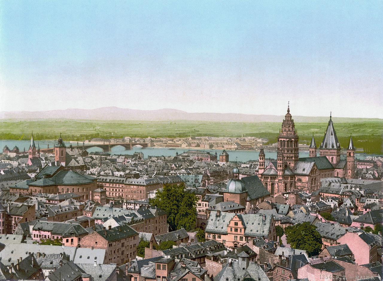 ไมนซ์-เมืองในปี 1900