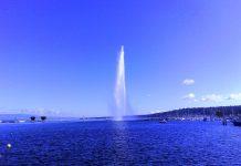 น้ำพุ เจ็ต เดอ อัว-วันสวยๆ
