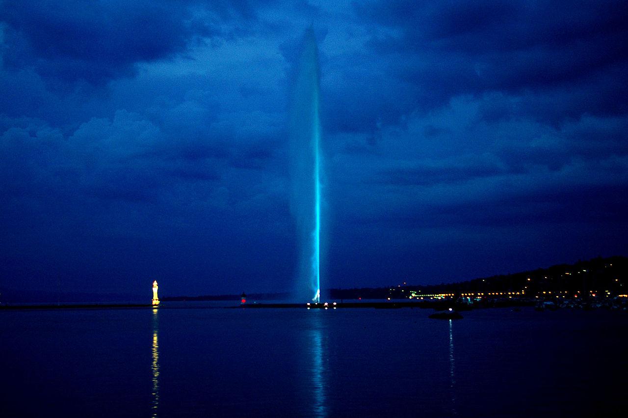 น้ำพุ เจ็ต เดอ อัว-เเสงสี