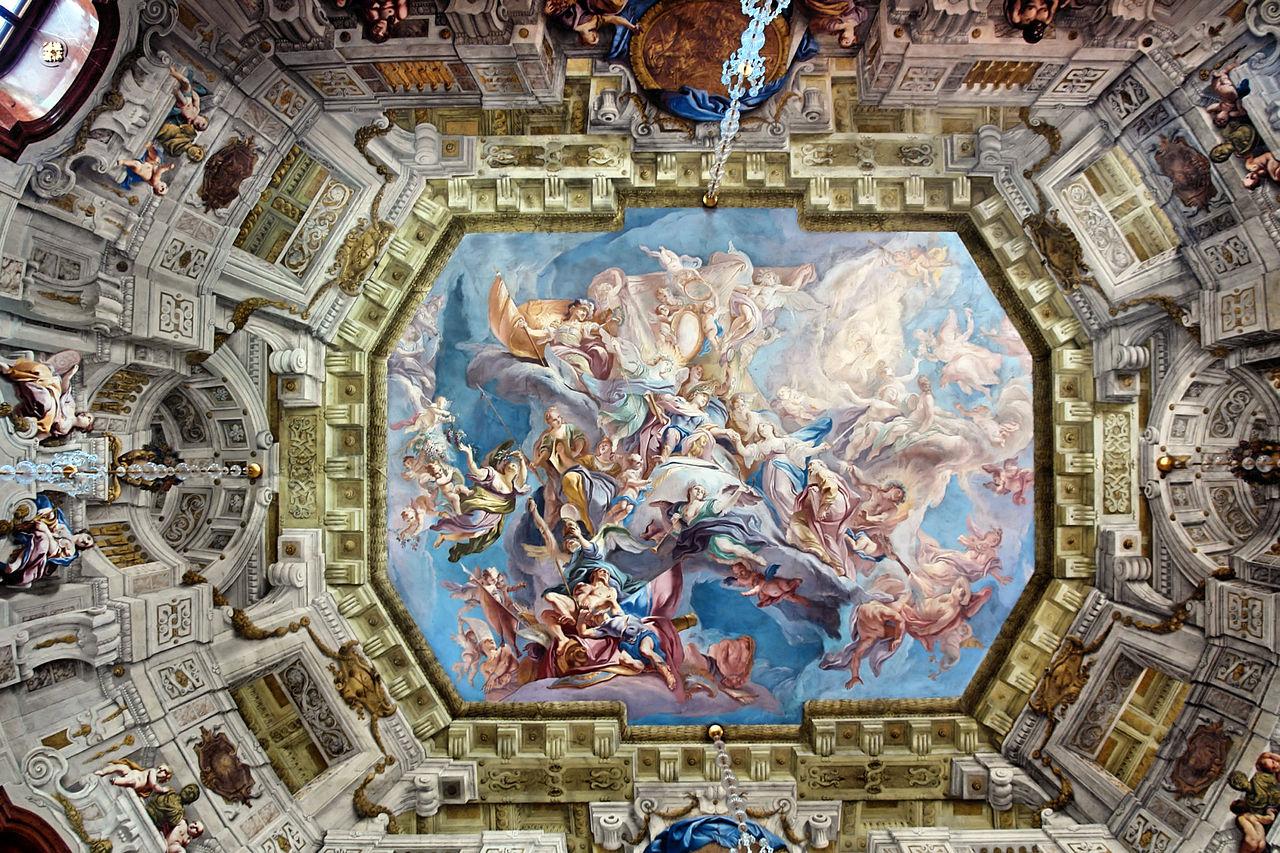 หอทัศนา-ภาพวาดบนเพดาน