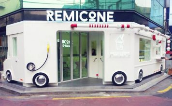 10 คาเฟ่เเสนน่ารักในเกาหลี -รีมิโคเน่ ไอศกรีม