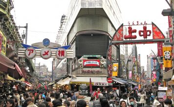 10 ตลาดญี่ปุ่นที่น่าสนใจ-ตลาดอะเมโยโกะ