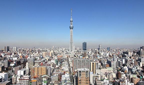 10 หอคอยเเละจุดชมวิวขึ้นชื่อของญี่ปุ่น -โตเกียวสกายทรี